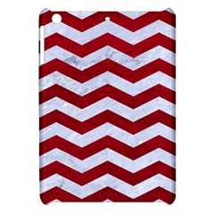 Chevron3 White Marble & Red Leather Apple Ipad Mini Hardshell Case by trendistuff
