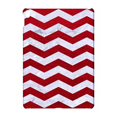 Chevron3 White Marble & Red Leather Apple Ipad Pro 10 5   Hardshell Case by trendistuff