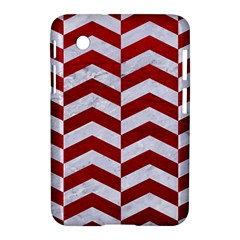 Chevron2 White Marble & Red Leather Samsung Galaxy Tab 2 (7 ) P3100 Hardshell Case