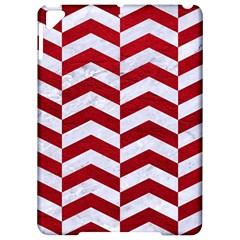 Chevron2 White Marble & Red Leather Apple Ipad Pro 9 7   Hardshell Case by trendistuff