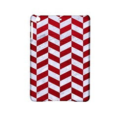 Chevron1 White Marble & Red Leather Ipad Mini 2 Hardshell Cases by trendistuff