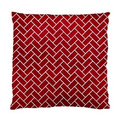 Brick2 White Marble & Red Leather Standard Cushion Case (one Side) by trendistuff
