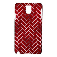 Brick2 White Marble & Red Leather Samsung Galaxy Note 3 N9005 Hardshell Case by trendistuff