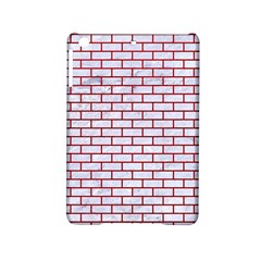 Brick1 White Marble & Red Leather (r) Ipad Mini 2 Hardshell Cases by trendistuff