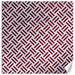 Woven2 White Marble & Red Grunge (r) Canvas 20  X 20   by trendistuff