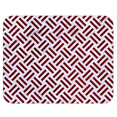 Woven2 White Marble & Red Grunge (r) Double Sided Flano Blanket (medium)  by trendistuff