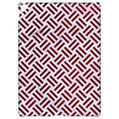 Woven2 White Marble & Red Grunge (r) Apple Ipad Pro 12 9   Hardshell Case by trendistuff