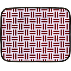 Woven1 White Marble & Red Grunge (r) Fleece Blanket (mini) by trendistuff