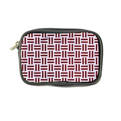Woven1 White Marble & Red Grunge (r) Coin Purse by trendistuff