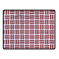 Woven1 White Marble & Red Grunge (r) Fleece Blanket (small) by trendistuff