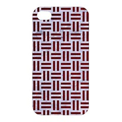 Woven1 White Marble & Red Grunge (r) Apple Iphone 4/4s Premium Hardshell Case by trendistuff