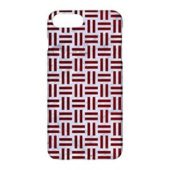 Woven1 White Marble & Red Grunge (r) Apple Iphone 7 Plus Hardshell Case
