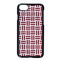 Woven1 White Marble & Red Grunge (r) Apple Iphone 7 Seamless Case (black) by trendistuff