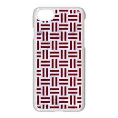 Woven1 White Marble & Red Grunge (r) Apple Iphone 7 Seamless Case (white) by trendistuff