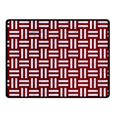 Woven1 White Marble & Red Grunge Fleece Blanket (small) by trendistuff