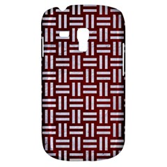 Woven1 White Marble & Red Grunge Galaxy S3 Mini by trendistuff