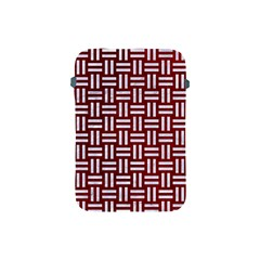 Woven1 White Marble & Red Grunge Apple Ipad Mini Protective Soft Cases by trendistuff