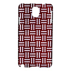 Woven1 White Marble & Red Grunge Samsung Galaxy Note 3 N9005 Hardshell Case by trendistuff