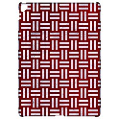 Woven1 White Marble & Red Grunge Apple Ipad Pro 12 9   Hardshell Case by trendistuff