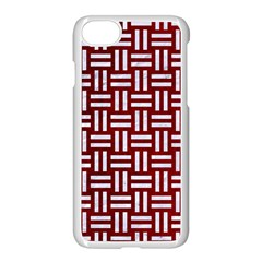 Woven1 White Marble & Red Grunge Apple Iphone 8 Seamless Case (white)