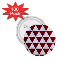 Triangle3 White Marble & Red Grunge 1 75  Buttons (100 Pack)  by trendistuff