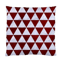 Triangle3 White Marble & Red Grunge Standard Cushion Case (two Sides) by trendistuff