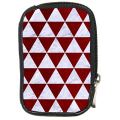 Triangle3 White Marble & Red Grunge Compact Camera Cases by trendistuff