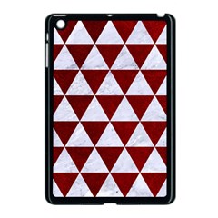 Triangle3 White Marble & Red Grunge Apple Ipad Mini Case (black) by trendistuff