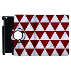 Triangle3 White Marble & Red Grunge Apple Ipad 3/4 Flip 360 Case by trendistuff
