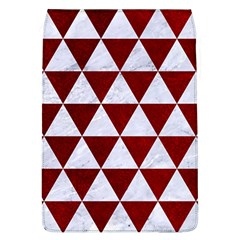 Triangle3 White Marble & Red Grunge Flap Covers (l)  by trendistuff