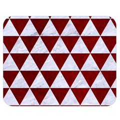 Triangle3 White Marble & Red Grunge Double Sided Flano Blanket (medium)  by trendistuff