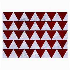 Triangle2 White Marble & Red Grunge Large Glasses Cloth (2 Side) by trendistuff