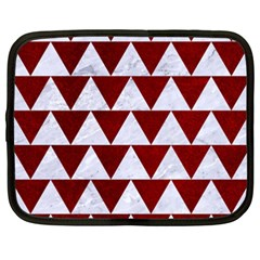 Triangle2 White Marble & Red Grunge Netbook Case (xxl)  by trendistuff