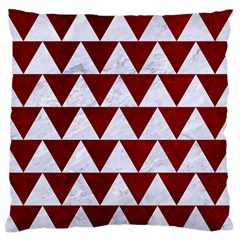 Triangle2 White Marble & Red Grunge Standard Flano Cushion Case (two Sides) by trendistuff