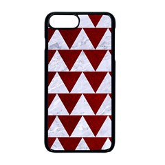 Triangle2 White Marble & Red Grunge Apple Iphone 8 Plus Seamless Case (black)