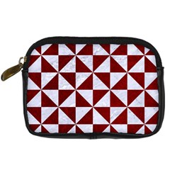 Triangle1 White Marble & Red Grunge Digital Camera Cases by trendistuff