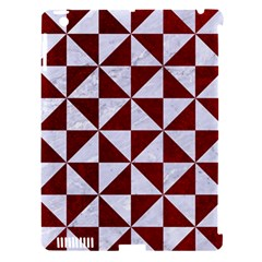 Triangle1 White Marble & Red Grunge Apple Ipad 3/4 Hardshell Case (compatible With Smart Cover) by trendistuff