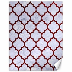 Tile1 White Marble & Red Grunge (r) Canvas 18  X 24   by trendistuff