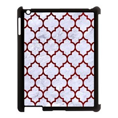 Tile1 White Marble & Red Grunge (r) Apple Ipad 3/4 Case (black) by trendistuff