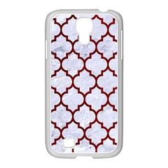 Tile1 White Marble & Red Grunge (r) Samsung Galaxy S4 I9500/ I9505 Case (white) by trendistuff