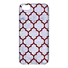 Tile1 White Marble & Red Grunge (r) Apple Iphone 5c Hardshell Case by trendistuff