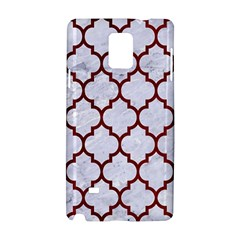 Tile1 White Marble & Red Grunge (r) Samsung Galaxy Note 4 Hardshell Case by trendistuff