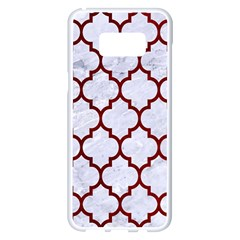 Tile1 White Marble & Red Grunge (r) Samsung Galaxy S8 Plus White Seamless Case by trendistuff