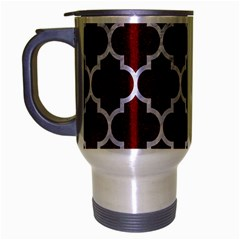 Tile1 White Marble & Red Grunge Travel Mug (silver Gray) by trendistuff