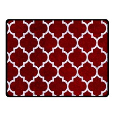 Tile1 White Marble & Red Grunge Fleece Blanket (small) by trendistuff