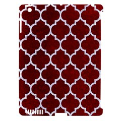 Tile1 White Marble & Red Grunge Apple Ipad 3/4 Hardshell Case (compatible With Smart Cover) by trendistuff