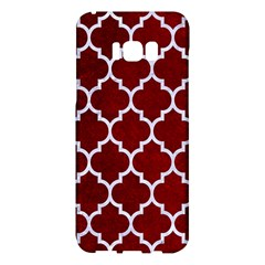 Tile1 White Marble & Red Grunge Samsung Galaxy S8 Plus Hardshell Case  by trendistuff