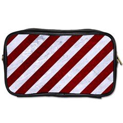 Stripes3 White Marble & Red Grunge (r) Toiletries Bags by trendistuff