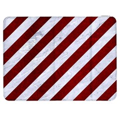 Stripes3 White Marble & Red Grunge (r) Samsung Galaxy Tab 7  P1000 Flip Case by trendistuff