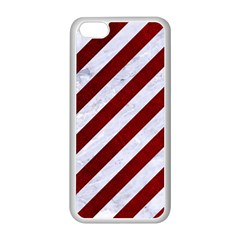 Stripes3 White Marble & Red Grunge (r) Apple Iphone 5c Seamless Case (white) by trendistuff